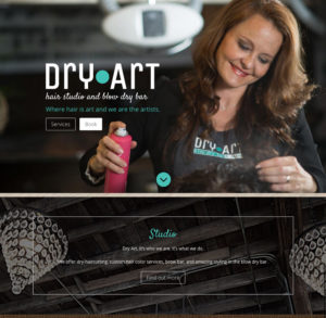 Dry Art Salon website